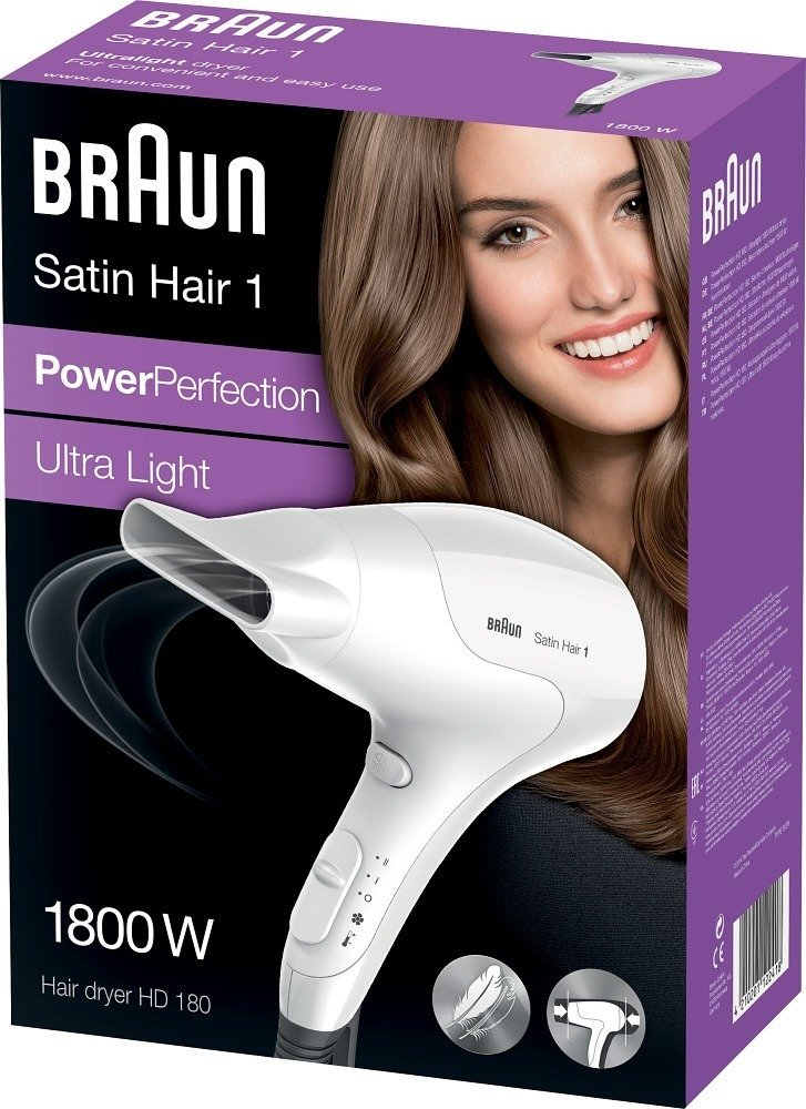 Braun Satin-Hair 1 PowerPerfection HD180 -hiustenkuivaaja –  Hiustenkuivaimet – Hiustenhoito – Pienkoneet – Verkkokauppa.com 4cfe2ba3b4