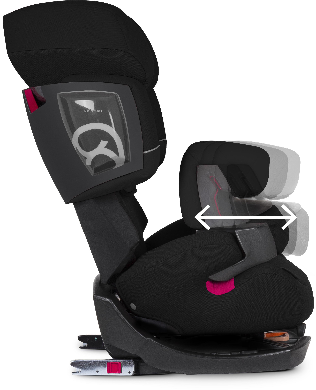 cybex pallas 2 fix turvaistuin 9 36 kg pure black. Black Bedroom Furniture Sets. Home Design Ideas